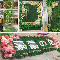 40x60 سنتيمتر الاصطناعي الأخضر النباتات الحوج السجاد حديقة المنزل جدار المناظر الطبيعية الخضراء البلاستيك الباب العشب متجر خلفية الديكور العشب YL0179