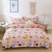4pcs Cute Bedding Set Luxury Modern Fruit Cartoons Queen Size Sheets Adult Children Duvet Quilt Cover Comforter Kawaii Boys Girl 201127
