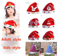 hot Christmas Hat Xmas Mini Red Santa Claus hat Snowman Deer...