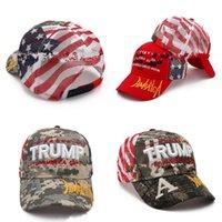 ترامب صافي قبعة البيسبول إبقاء أمريكا العظمى الولايات المتحدة الأمريكية العلم الوطني كاب الرجال النساء التطريز التمويه عامة القبعات الانتخابات 12 5kp G2