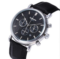 Cheap Mens Full Functional Watches Genuine Leather Strap Qua...