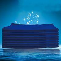 30 * 70cm Serviette voiture lavage de voiture Nettoyage Facecloth Blue Hemming Superfine Fibre Polissage Boucle de polissage des serviettes Nouvelle arrivée 0 62JY K2