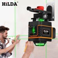 Hilda 16 linhas 4D nível de nível a laser auto-nivelamento 360 Horizontal e vertical Cross super poderoso nível laser verde