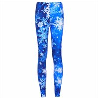 Leggings Fashion New Legging Argent 3D Imprimer Femmes Pantalon bleu Jegging chaud Pantalon Ropa Mujer Hot vente