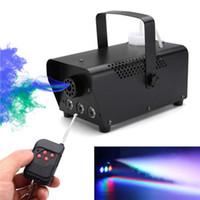 LED Stage Fog Machine stage lighting disco colorful smoke machine mini LED remote fogger ejector dj Christmas party