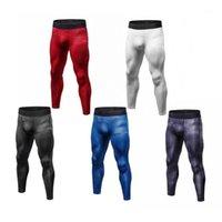 Короткие шорты Юерлские мужчины 3D цветочные печатные сжатия плотные длинные брюки скинни леггинсы LN1