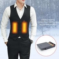 2020 Men USB Smart Heating Vest Electric Heated Jacket For F...