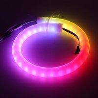 Suюолин неоновый знак индивидуальный интеллектуальный смарт-пиксель SK6812 60 светодиодов / м, RGB светодиодный веревочный светильник, DC 12V водонепроницаемый, гибкая буква бар огней лампы