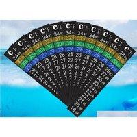 Термометр для варевовных полос Carboy Frmenter Homebrew Пивел Температура наклейки для резервуара Клей Sticky Qylncv Packing2010