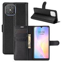 Litchi Pattern Flip PU кожаный кожаный корпус для Huawei Наслаждайтесь 10 приятель 20 30 Pro P20 P30 Lite 2019 Nova 5i Pro 5Z