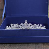 SLBLider Muhteşem Kübik Zirkon Düğün Tiara CZ Gelin Bandı Kraliçe Prenses Pageant Parti Taç Nedime Kadınlar Jewelry1
