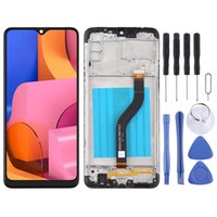 LCD Screen and Digitizer Full Assembly With Frame for Samsung Galaxy A20s