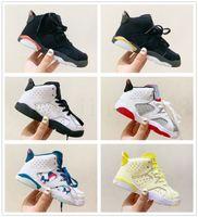 aj6 Toptan Yeni İndirim Çocuklar 6 bebek Basketbol Ayakkabıları unc altın siyah kırmızı çocuk 6 s Erkek Sneakers Çocuk Spor düşük eğitmenler boyutu 28-35