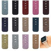 PU Leather Christmas Shiny Glitter Bling WatchbandFor Iwatch...