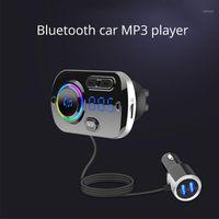 Unclogy Player مشغل سريع شحن سيارة بلوتوث MP3 يدوي اللاعب سيارة FM الارسال محيط ضوء عرض 1