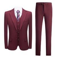 MARIAGE Tuxedos Bourgogne Trade étranger pour hommes Nouvelle mode coréenne Slim Slim Hommes Business Wedding Weddgrome