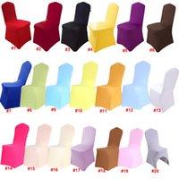 Cubiertas universales de silla de boda de Spandex White Spandex Blanco Cubierta de silla de lycra de Spandex para bodas GWD9904