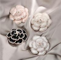 2020 autunno e l'inverno nuova moda femminile camelia perla spilla cappotto tuta giacca accessori del collare fibbia parte accessori gioielli pin regalo