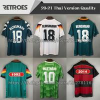 1990 1994 1988 2014 레트로 축구 유니폼 88 90 94 멀리 버전 Littbarski Klinsmann Matthias 클래식 축구 셔츠