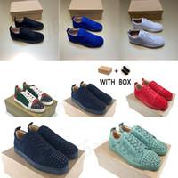2021 Top Designer Homens Mulheres Casuais Sapatos Vermelho Bottom Spikes Cheap Real Luxurys Insider Sneakers Preto Vermelho Moda Couro Low-Top Sho