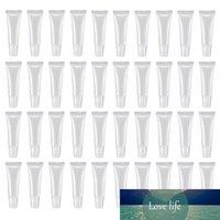 100 шт. 10 мл распределения бутылок для губ, пустые прозрачные лосьонные контейнеры для косметики DIY, косой рот