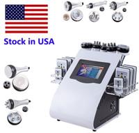Stock in USA 6in1 40k Cavitation de liposuccion ultrasonique 8 pads Laser Aspirateur RF Salon de soin de la peau Minceur Machine Machine Equipment FedEx