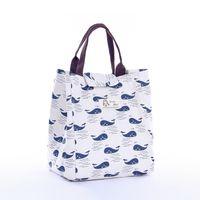 Igel Whale Muster Canvas Taschen Cartoon Mittagessen Bento Wärmedämmung Tragbare Tasche Neues Muster vielseitig 5 2Qf J2