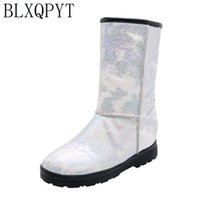 BLXQPYT 2020 Winter boots High Women Snow Boots plush Warm shoes Plus size 33 to big 50 easy wear female hot casual 232