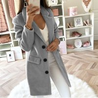 hot sale solid color style suit autumn and winter mid- length...