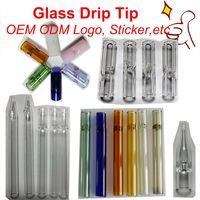 Professional Factory OEM настроить ODM стеклянный фильтр трубки капельницы консушки логотип наклейки курение трубы оптом лучшая цена