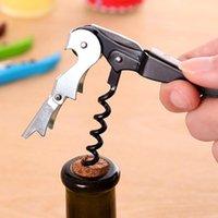 Couteau de forme d'hippocampe pratique acier inoxydable robuste acier inoxydable rouge ouvre-bouteille portable pliable coffre-fort nouveau 0 98yr ZZ