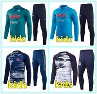 20 21 Real Madrid Maillots kids soccer tracksuit football training 2020 2021 real madrid kids football tracksuit survetement chandal jogging