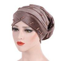 Beanie / Skull Caps mujer hijabs turbante cabeza gorra sombrero beanie damas accesorios para el cabello Pérdida de la bufanda musulmana