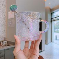 275 ml Starbucks Kupalar Yaratıcı Tasarım Yıldönümü Senfoni Balık Sclae Cam Karıştırma Çubuk Ile Kaliteli