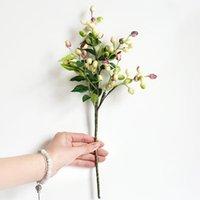الاصطناعي الزيتون الفاكهة الفاصوليا فرع زهرة الزفاف عيد الميلاد وهمية زهرة ل الزفاف المنزل حزب الديكور المزيفة النباتات 1