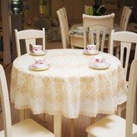 Tabela de mesa 180x180cm impressão de laço toalha de mesa PVC redondo estilo rural espessamento à prova d 'água e Óleo1