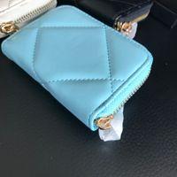 Cadeau Nouveau cadeau PU 3 Couleurs Mini Zipper 2021 VIP Carte VIP Sac Classic Porte-monnaie Stockage de mode avec boîte Lady Party Porte-Porte-Pouchonnettes Sjmqs