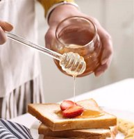 Bal Kaşık Cam Bal Kepçe Şurubu Dağıtıcı Sunucu Jar Mutfak Aksesuarları için 6 Inç Cam Bal Sopa