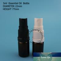10pcs / Lot alta qualidade 5mL de vidro âmbar Frasco de petróleo essencial pequeno 1/6 oz spray atomizador Pot pequeno Cosmetic recarregáveis Jars