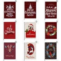 2020 새로운 9 스타일 크리스마스 플래그 크리스마스 격자 무늬 가든 플래그 크리스마스 인쇄 안뜰 크리스마스 플래그 배너 플래그 FF354