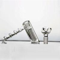 Настоящий стеклянный молоток Bongs 6 ARM 14см перколятор Perc Курительные трубы Bubbler В наличии Стеклянные бонги водопроводные чаши 18.8 мм В наличии Кальяны