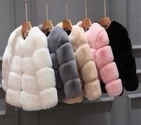 2020 neue winter mädchen pelz mantel elegant baby mädchen faux pelz jacken und mäntel dicke warme parka kinder oberbekleidung baby infant junge designer kleidung