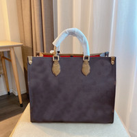 ماكرة عملاقة حقيبة يد onthego gm إمرأة تسوق أكياس جلدية الكتف anvas قدرة كبيرة حمل حقيبة السيدات محفظة دوبلكس طباعة تورون