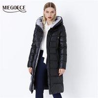 Miegofce Ceket Ceket Kış kadın Kapüşonlu Sıcak Parkas Bio Fluff Parka Ceket Yüksekliği Kaliteli Kadın Yeni Kış Koleksiyonu Sıcak 201029