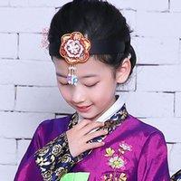 Coreano Hanbok Headbands Tradicional Flor Applique Bordado Bordado Hair Banda Minoritária Étnica Roupas Coreanas Desempenho Acessórios1