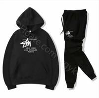 Venta caliente Set Swears Sweatsuit Men S Diseñador Chándal Hombre Sudaderas Con Sudaderas + Pantalones Hombres Ropa Sudadera Mujer Casual Tenis Deporte Traje de sudor Traje