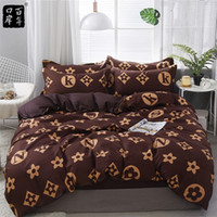 Conjunto de roupa de cama 4 pçs / set 21style folha de cama fronha de capa de edredão sets Stripe Aloe algodão cama Set Home cama Têxtil Products LJ200812