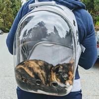 Katze Rucksack Transparente Tragetasche Reise Space Capsule Pet Hund Katze Träger Transportbeutel für Katzen und Kleine Hunde LJ201201