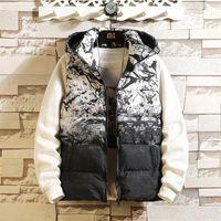 Veste Men's Sleeveless Homme Winter Casual Coats Male Cotton-Padded Thickening Vest Men Waistcoat Plus Size