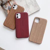 Hot Sale iPhone Projete madeira macia TPU Phone Case Para 11 Pro à prova de choque real Natural Wood tampa traseira para iPhone 6/7/8 / Plus / X / XS / Max / XR